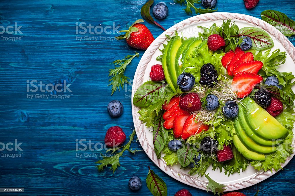 Berry salad stock photo