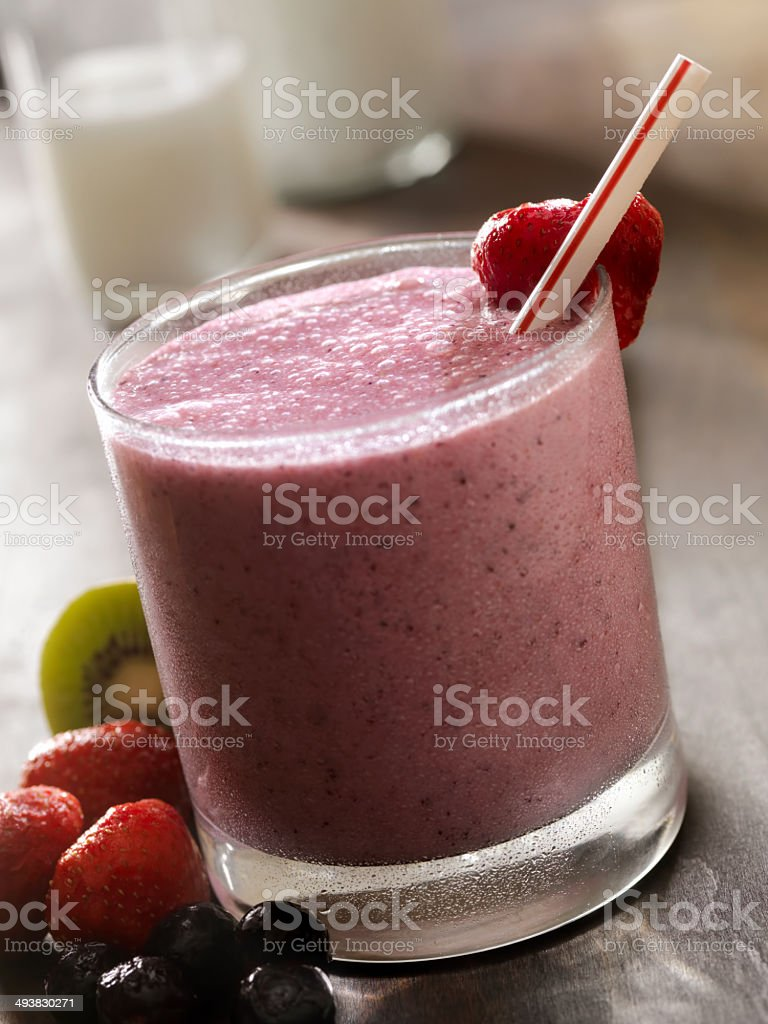 Berry Smoothie stock photo