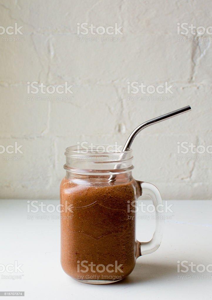 Berry smoothie (portrait) stock photo