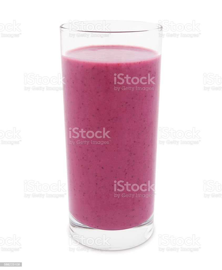 Berry Smoothie (with path) stock photo