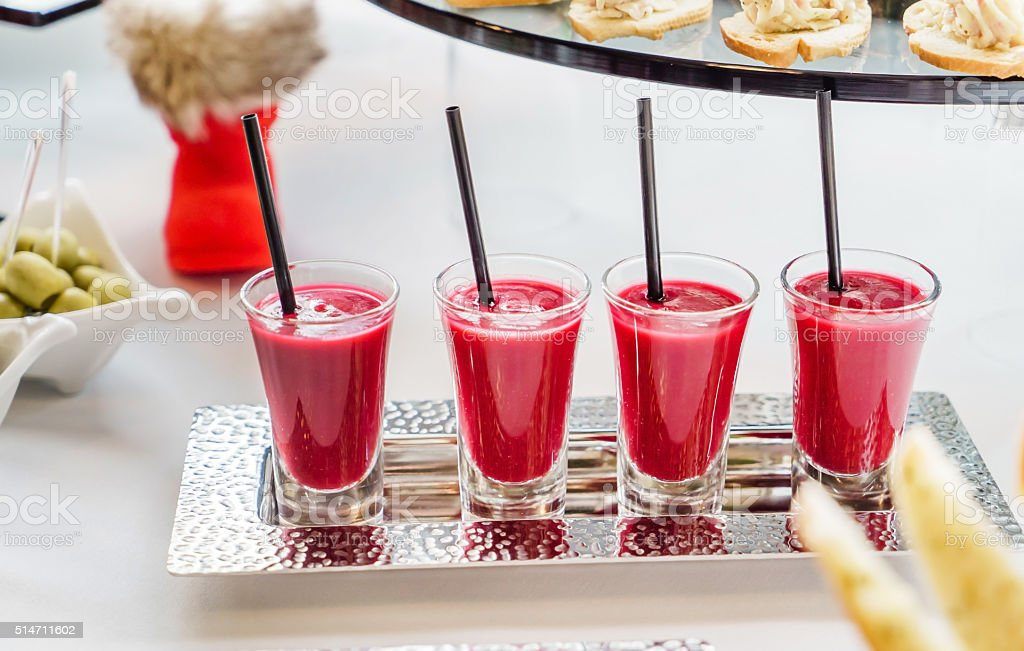 berry smoothies stock photo