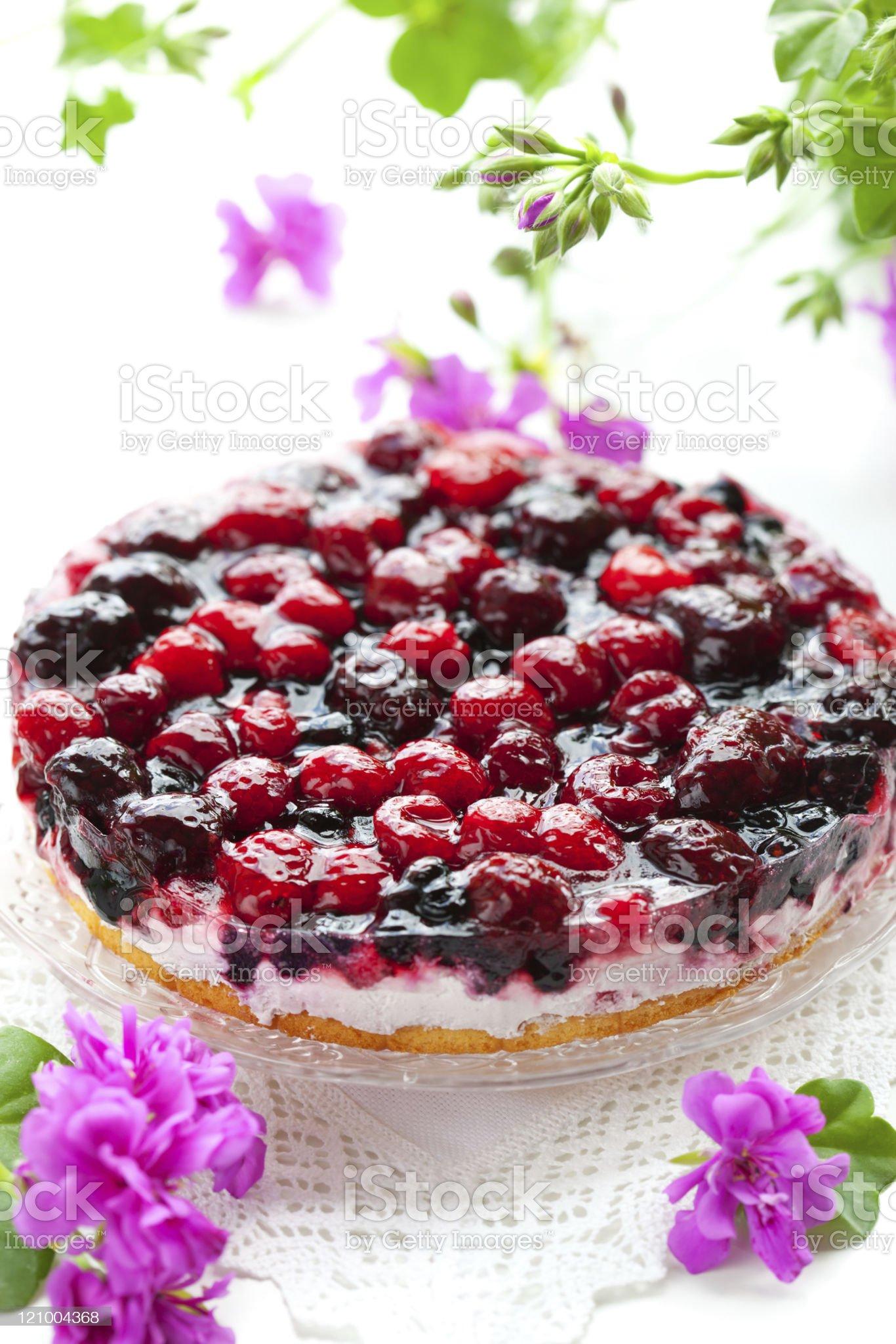 berry tart royalty-free stock photo
