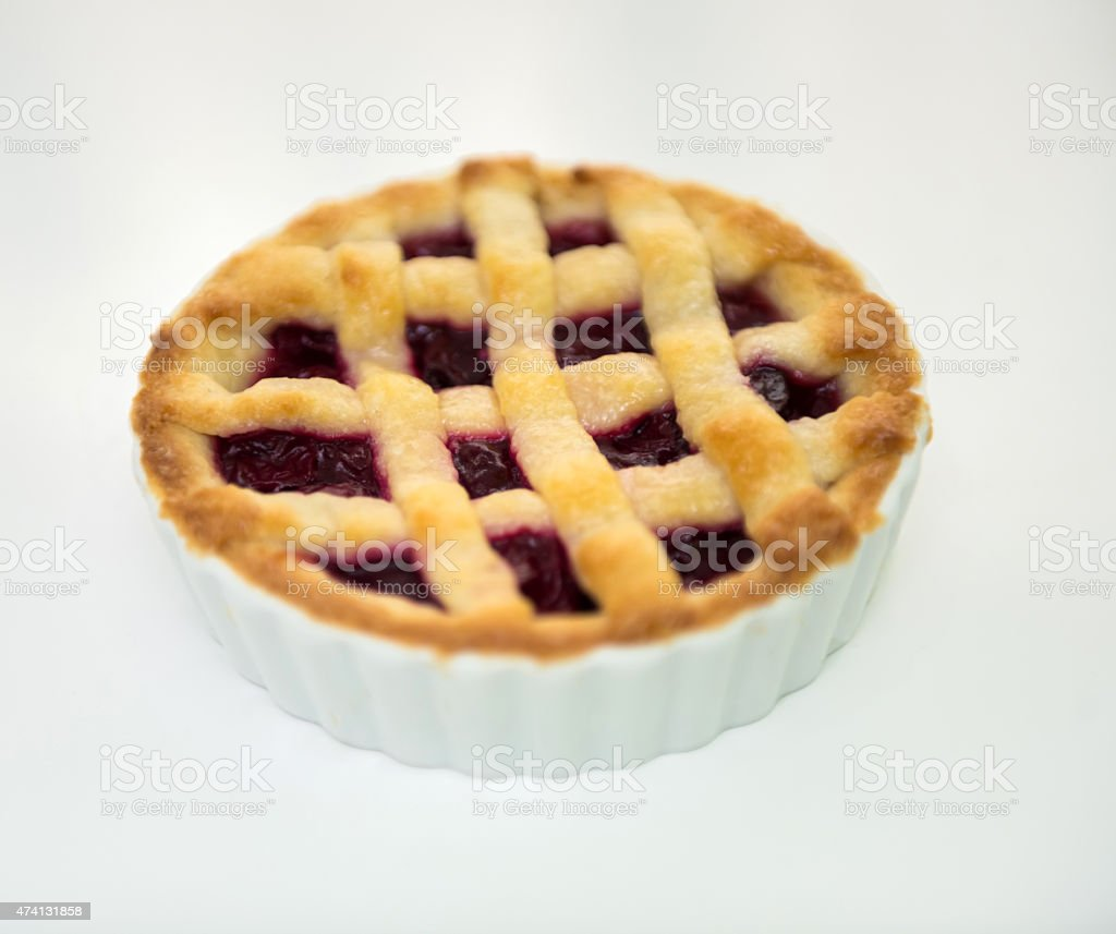 Berry tart stock photo