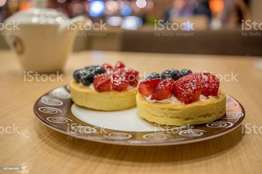 Berry tasty tartlet stock photo
