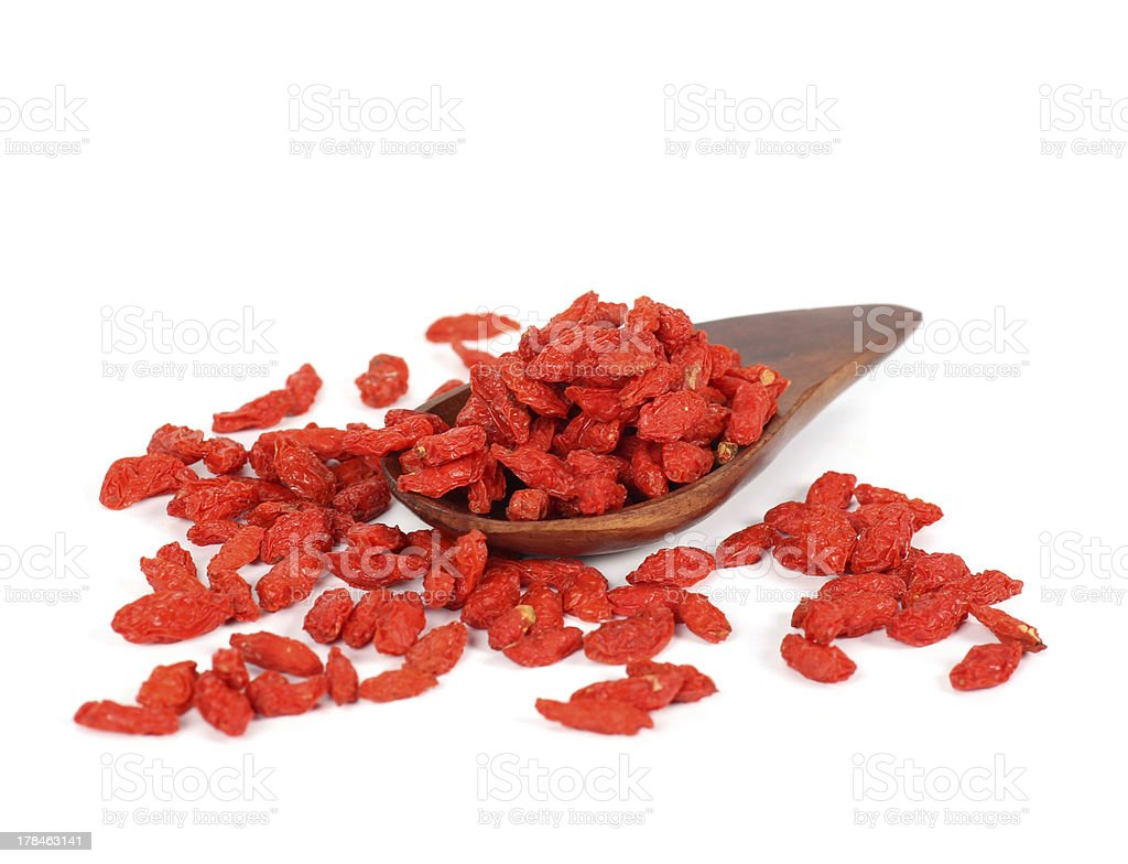 GOJI berryes pile royalty-free stock photo