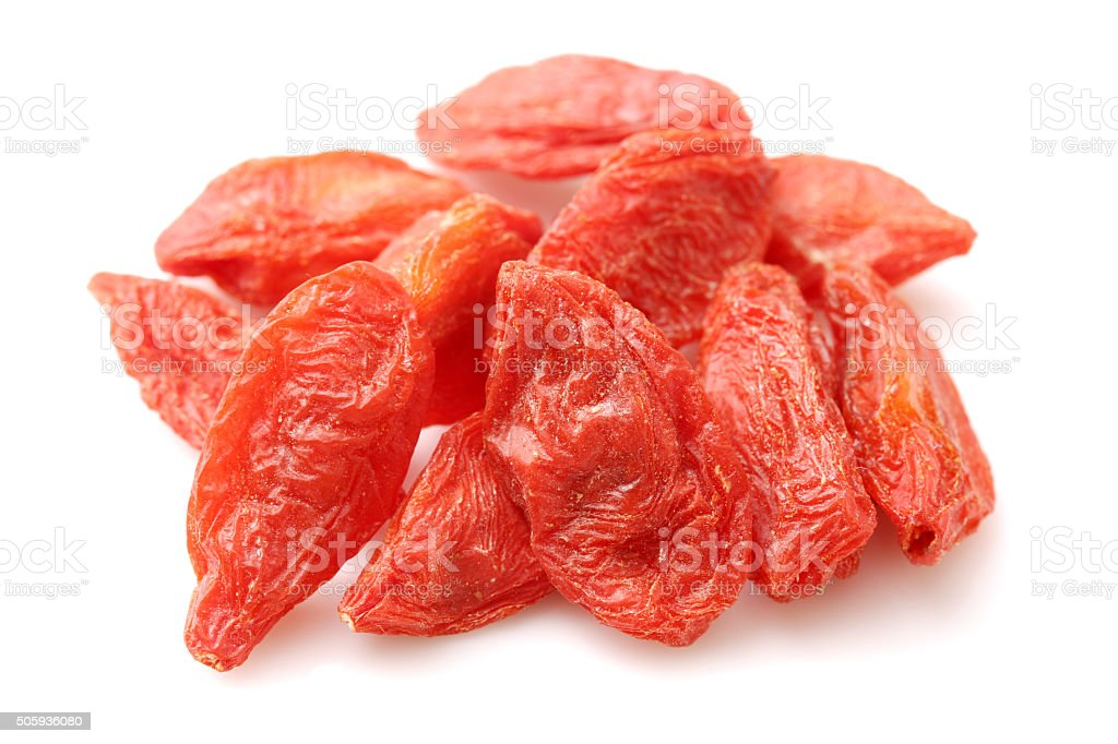 GOJI berryes pile stock photo