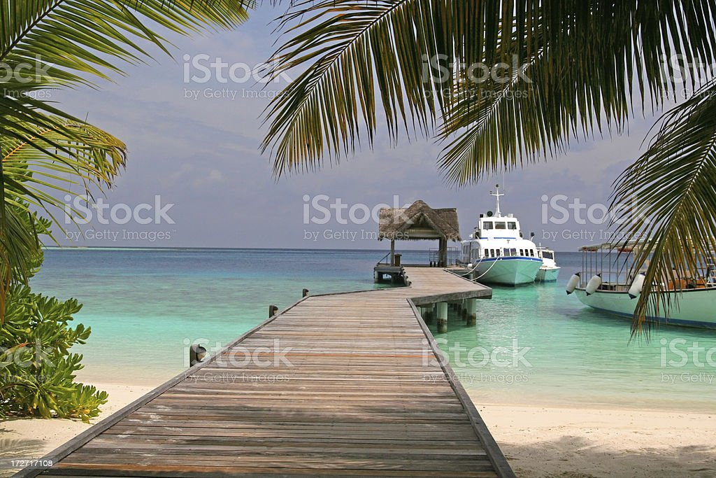 Berth at Island royalty-free stock photo