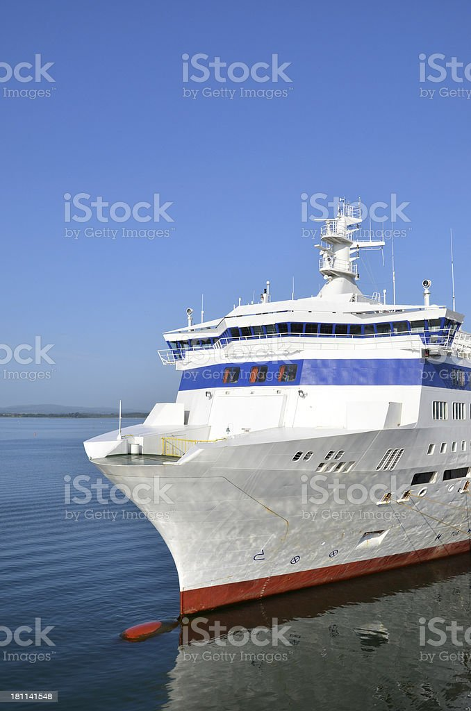 Berthed Ferry royalty-free stock photo