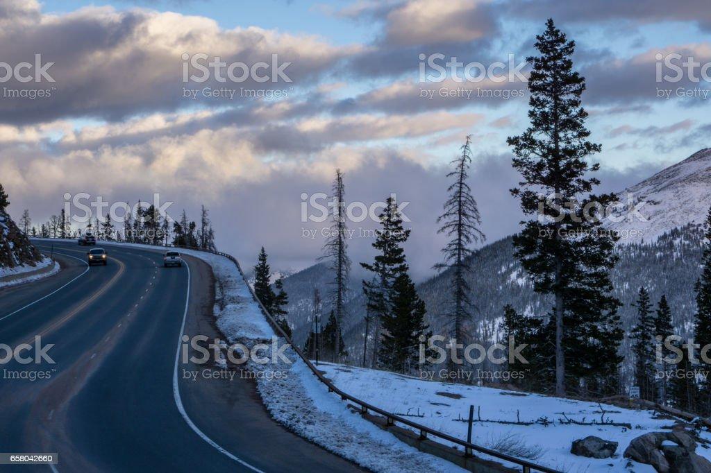 Berthoud Pass, Colorado stock photo