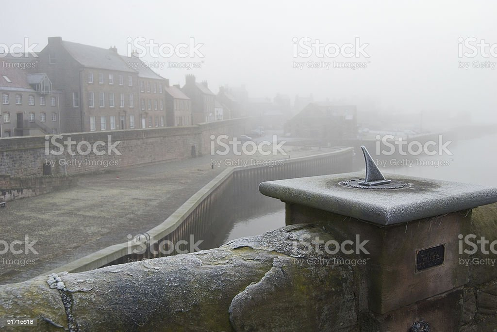 Berwick quay walls stock photo