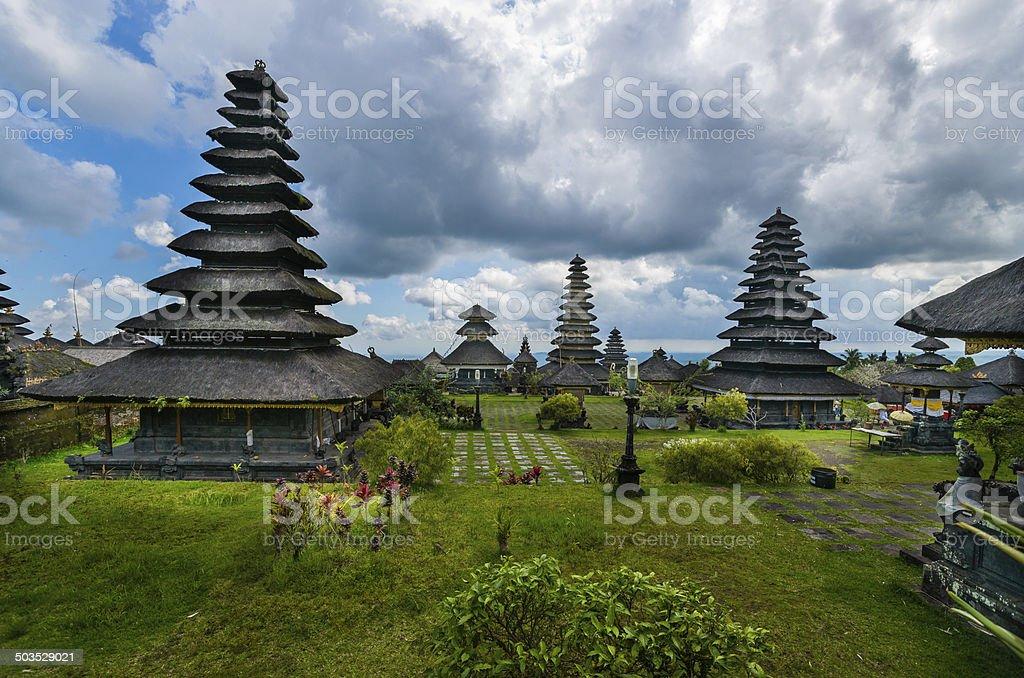 Besakih Temple on Bali in Indonesia stock photo