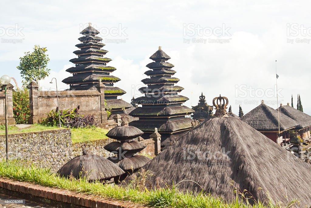 Besakih temple on Bali stock photo