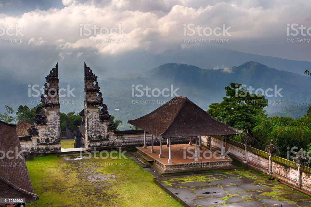 Besakih temple, Temple of Besakih, Pura Penataran Agung, Bali, Indonesia stock photo