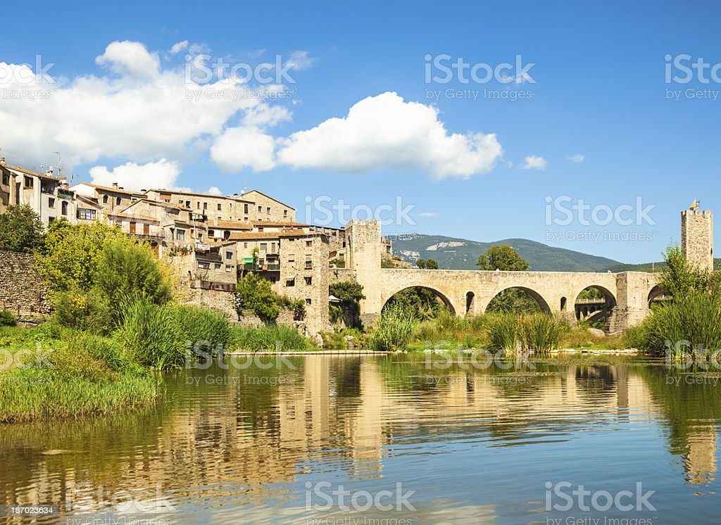 Besalu (Catalonia, Spain) stock photo