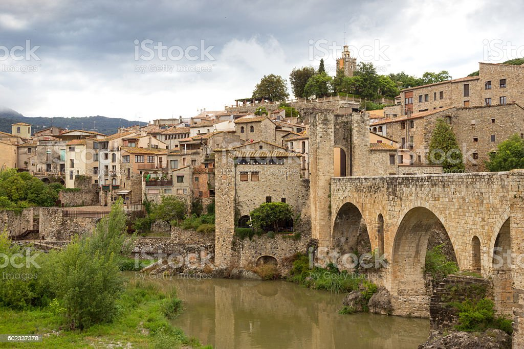 Besalu Spain stock photo