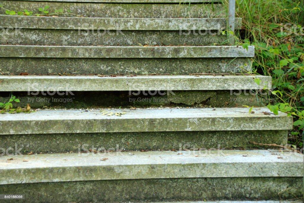Beschädigte Treppenstufe stock photo