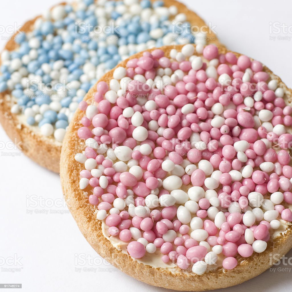 Beschuit met muisjes royalty-free stock photo