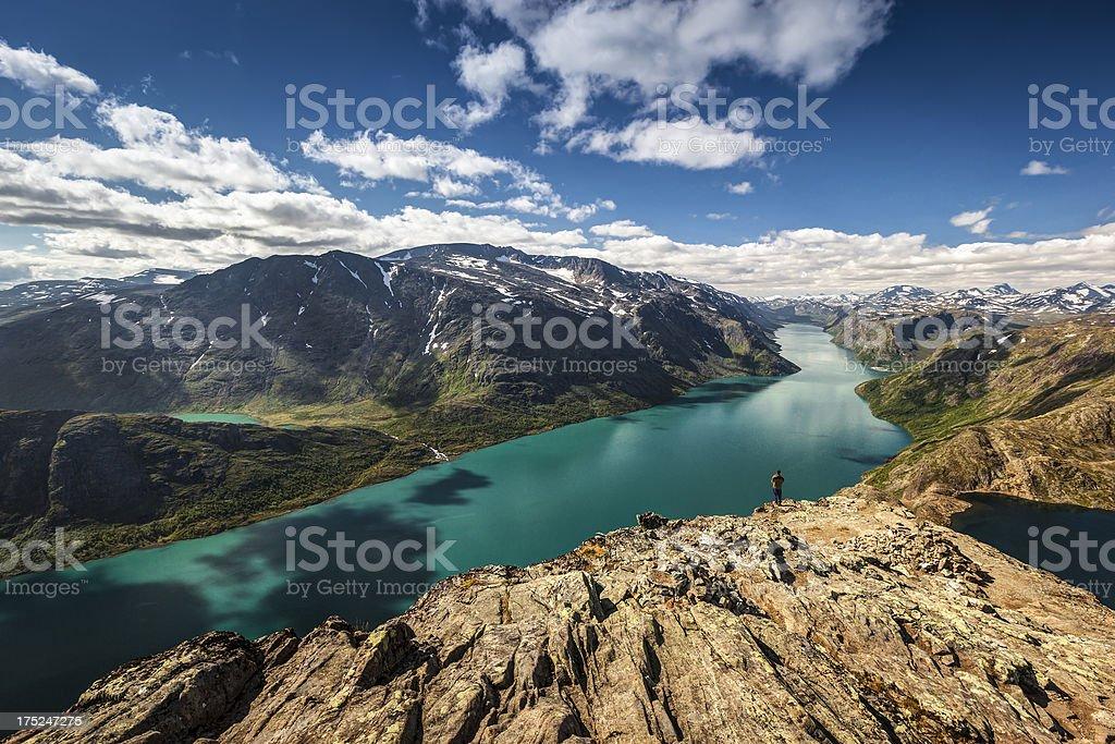 Beseggen Trail stock photo