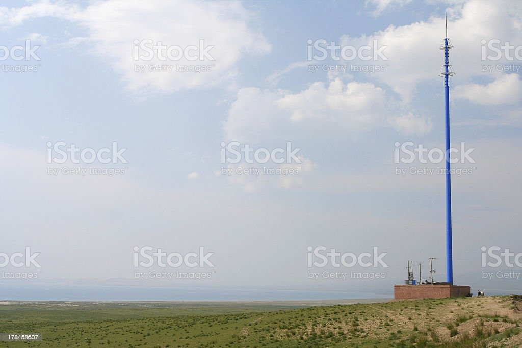 BTS beside Qinghai lake stock photo