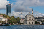 Besiktas - Dolmabahce Mosque Skyscraper and Vodafone Arena