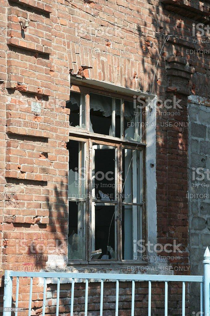 Beslan school memorial, where terrorist attack was in 2004 stock photo