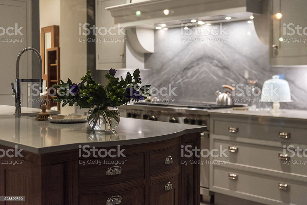Bespoke Kitchen stock photo