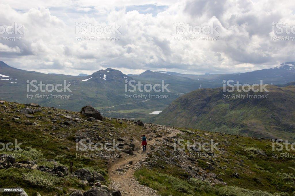 Besseggen in Jotunheimen National Park in Norway stock photo