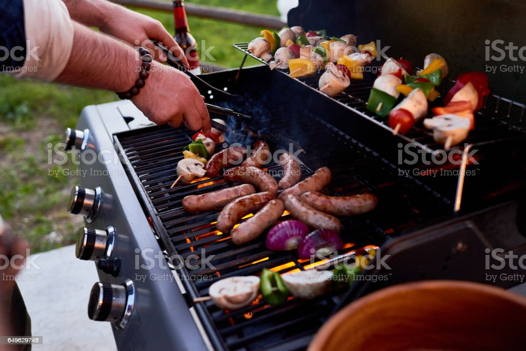 Best bbq party stock photo