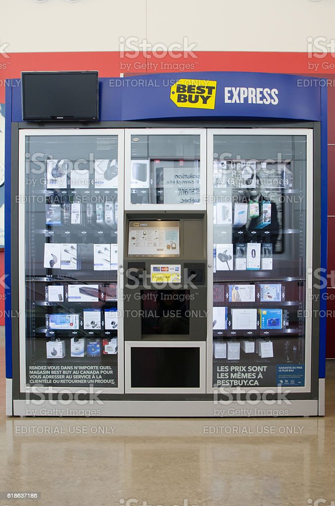 Best Buy Express Vending machine stock photo