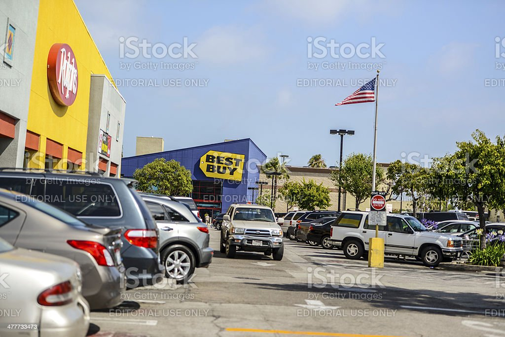 Best Buy Store in Los Angeles, CA, USA royalty-free stock photo