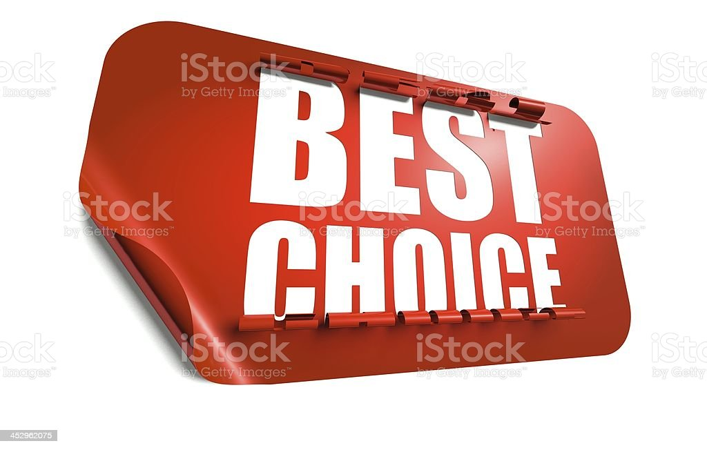 Best choice concept, cut out in sticker royalty-free stock photo
