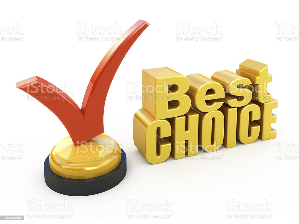 Best choice concept royalty-free stock photo