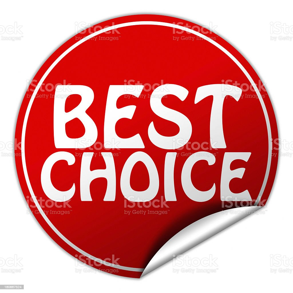 best choice sticker royalty-free stock photo