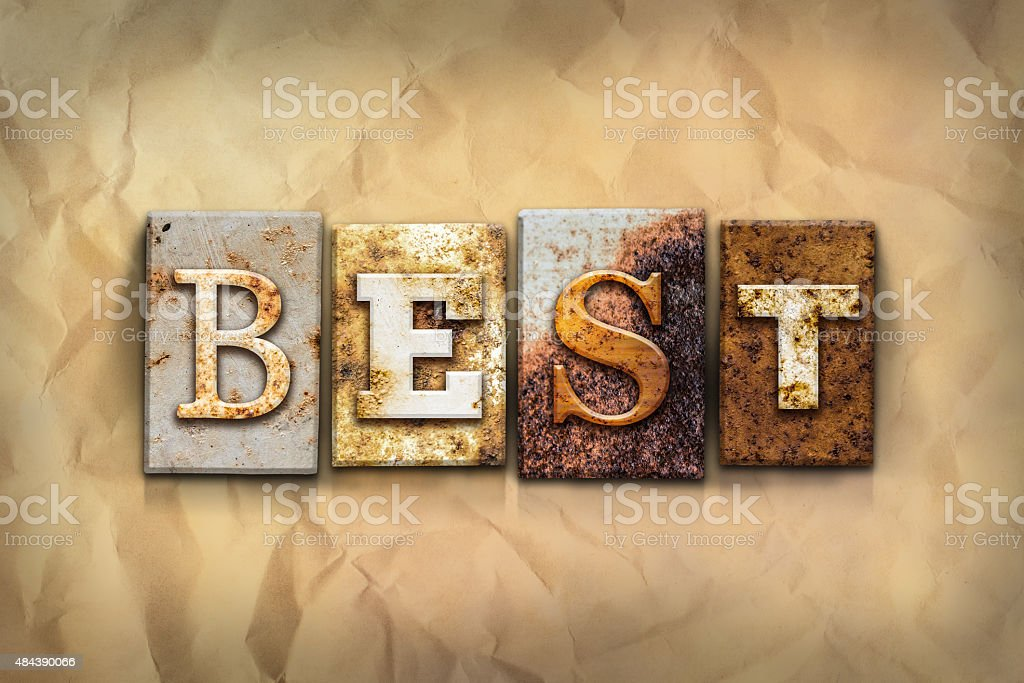 Best Concept Rusted Metal Type stock photo