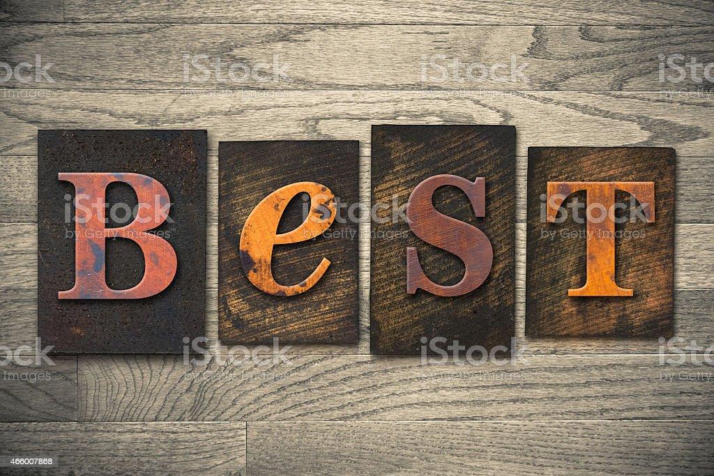 Best Concept Wooden Letterpress Type stock photo