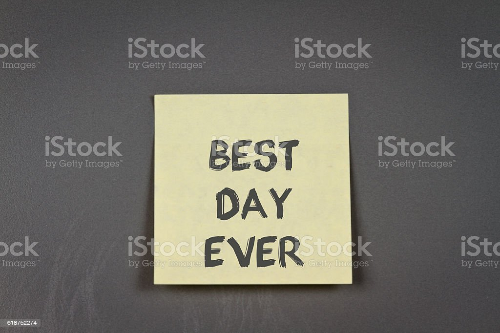 best day ever stock photo