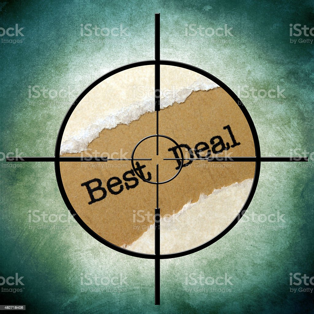 Best deal target stock photo