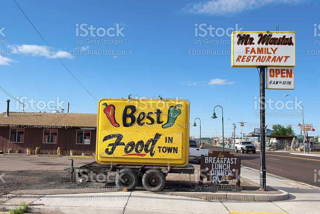 Best Food in Town, Holbrook. royalty-free stock photo