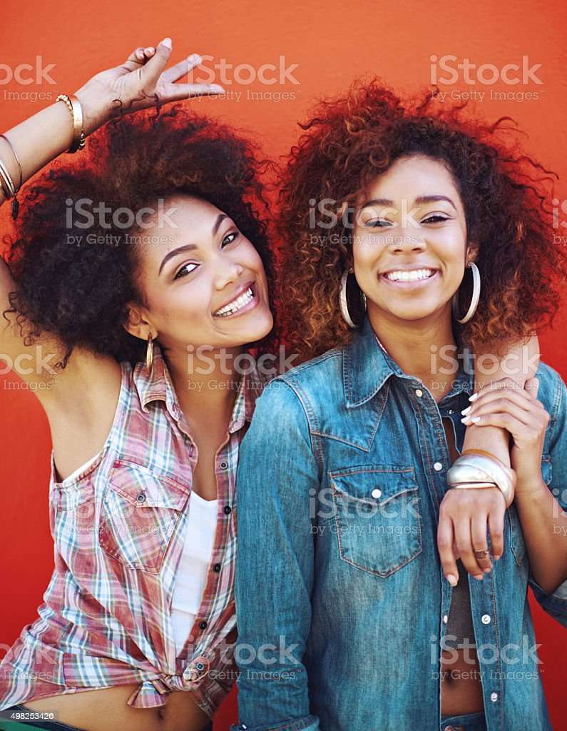 Best friends have double the fun stock photo