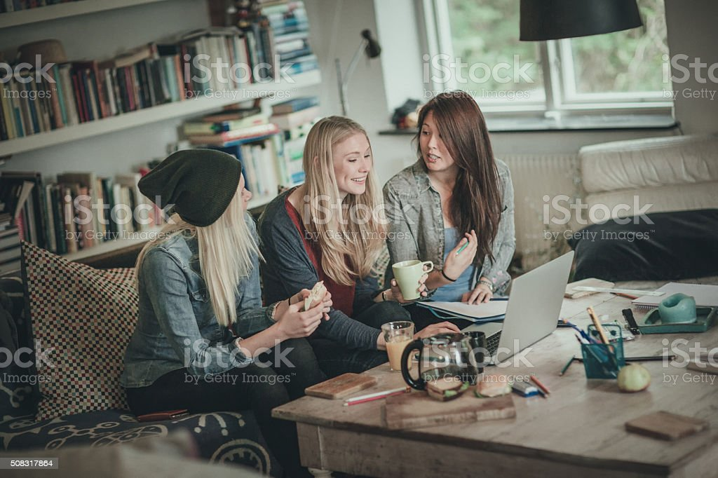 Best friends having nice time stock photo
