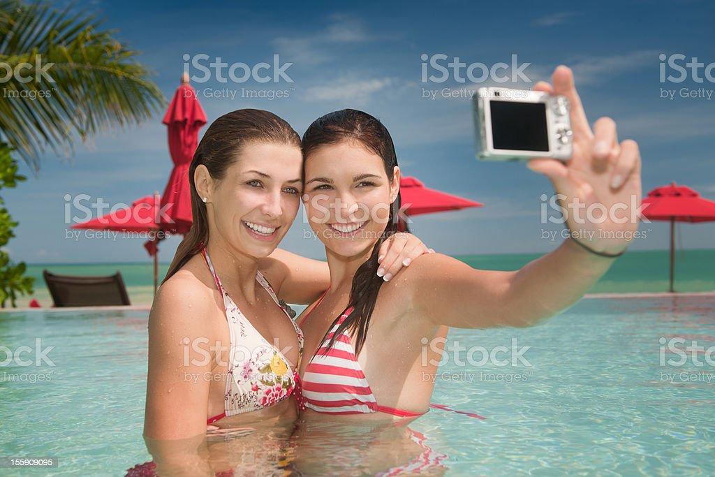 Best Friends - Holiday Selfportrait (XXXL) royalty-free stock photo