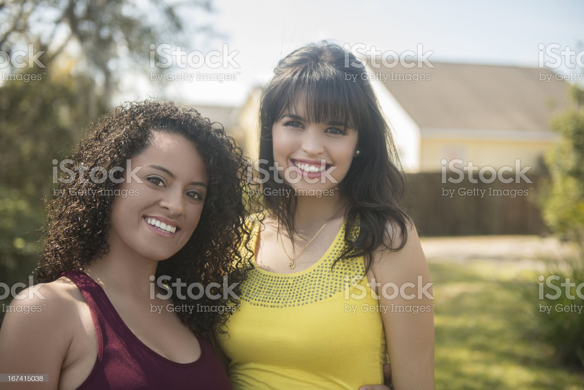 Best Friends in the Backyard royalty-free stock photo