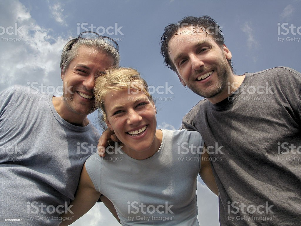 Best friends looking at camera royalty-free stock photo