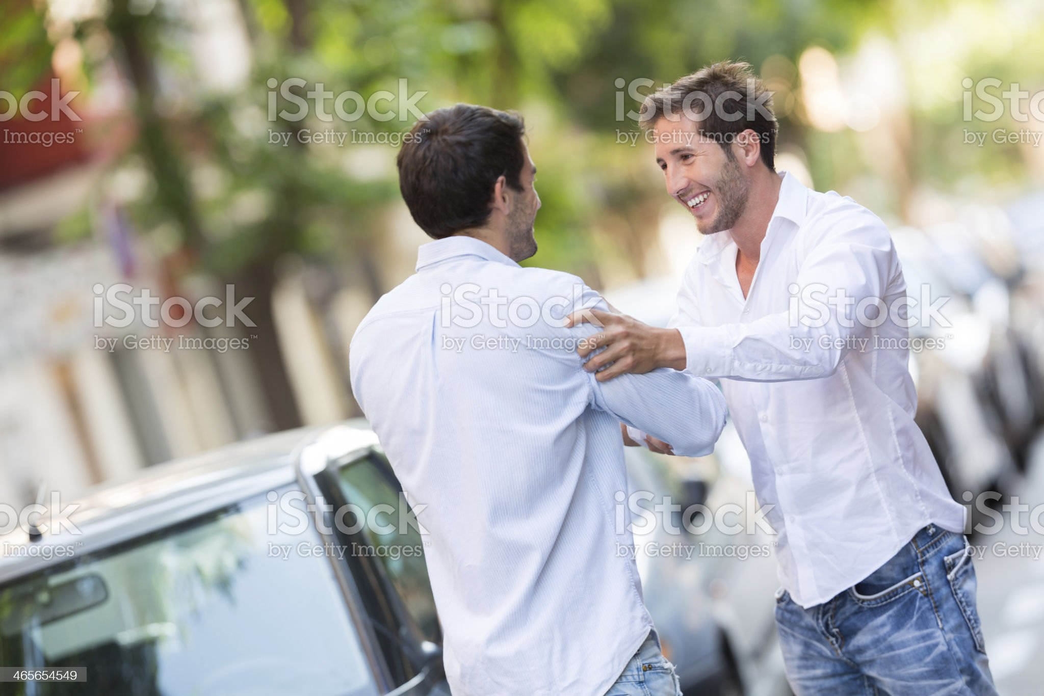 best friends meeting again royalty-free stock photo