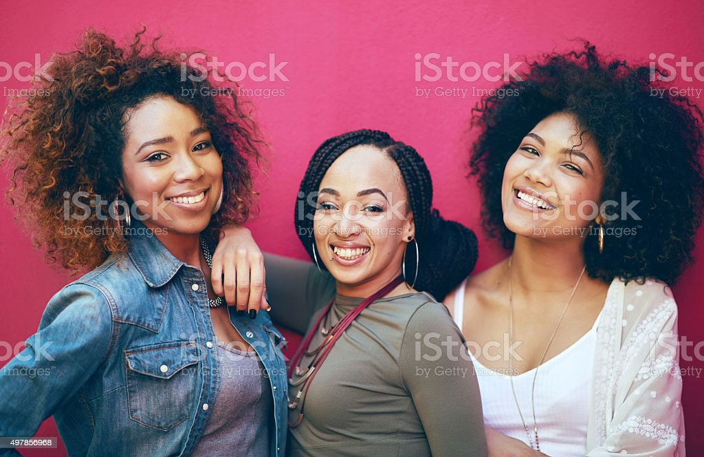 Best friends? More like sisters! stock photo
