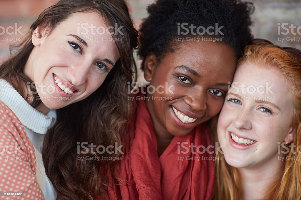 Best friends on campus stock photo