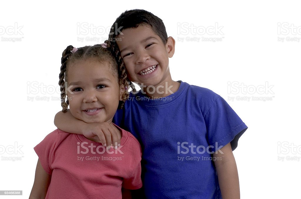 Best Friends on White Background royalty-free stock photo