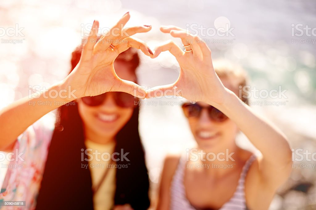 Best friends share a special kinda love stock photo
