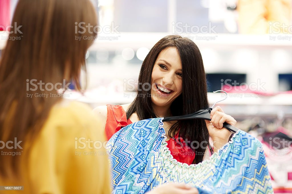 Best friends shopping royalty-free stock photo