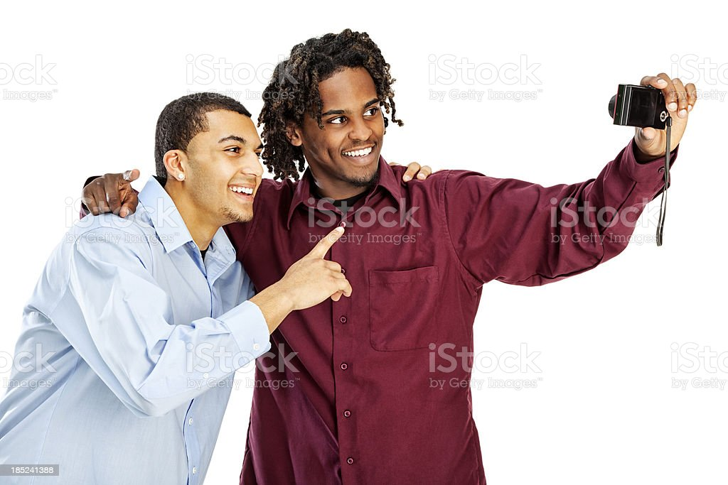 Best Friends Taking a Self Portrait with Digital Camera royalty-free stock photo